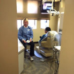 Dentist in the clinic